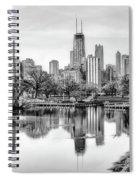 Chicago Skyline - Lincoln Park Spiral Notebook