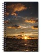 Chicago Skyline Sunset Spiral Notebook