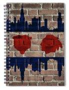 Chicago Sports Team Flag On Brick Spiral Notebook