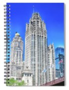 Chicago The Gothic Tribune Tower Spiral Notebook