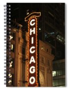 Chicago Theater At Night Spiral Notebook
