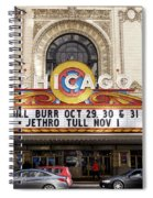 Chicago Theater Marquee Jethro Tull Signage Spiral Notebook