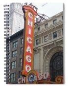 Chicago Theater Sign Spiral Notebook