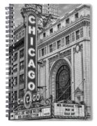 Chicago Theatre Bw Spiral Notebook