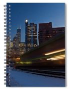 Chicago Train Blur Spiral Notebook