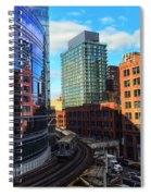 Chicago Train Spiral Notebook