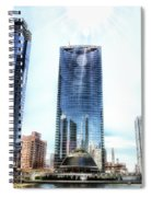 Chicago Under Construction On The River 02 Spiral Notebook