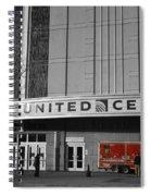 Chicago United Center Signage Sc Spiral Notebook