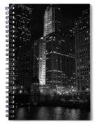 Chicago Wacker Drive Night Spiral Notebook