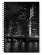 Chicago Wacker Drive Night Portrait Spiral Notebook