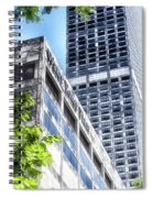 Chicago Water Tower Place Facade And Signage Spiral Notebook