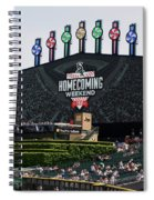 Chicago White Sox Home Coming Weekend Scoreboard Spiral Notebook