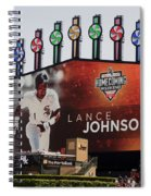 Chicago White Sox Lance Johnson Scoreboard Spiral Notebook