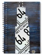 Chicago Windy City Harris Sears Tower License Plate Art Spiral Notebook