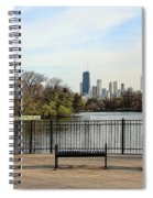 Chicago With Benches Spiral Notebook