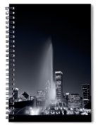 Chicagos Buckingham Fountain Bl And W Portrait Spiral Notebook