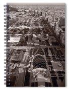 Chicagos Front Yard B W Spiral Notebook