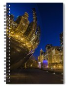 Chicago's Millenium Park At Dusk Spiral Notebook