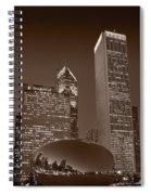 Chicagos Millennium Park Bw Spiral Notebook