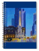 Chicago's Water Tower At Dusk Spiral Notebook