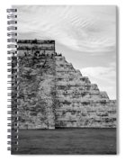 Chichen Itza B-w Spiral Notebook