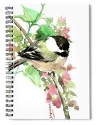 Chickadee And Spring Blossom Spiral Notebook