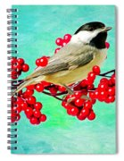 Chickadee And Winterberry Spiral Notebook