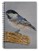 Chickadee Bird Spiral Notebook