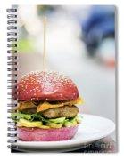 Chicken Burger With Gherkins Beetroot Bread Bun Spiral Notebook