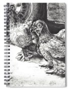 Chickens Crossing The Road Spiral Notebook