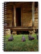 Chickens - Log House - Farm Spiral Notebook