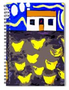 Chickens On The Farm 2 Spiral Notebook