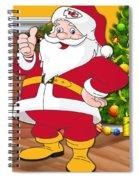 Chiefs Santa Claus Spiral Notebook