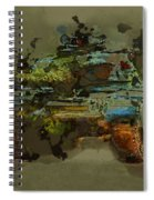 Chieftain Tank Abstract Spiral Notebook