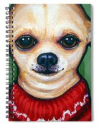 Chihuahua In Red Sweater - Boss Dog Spiral Notebook