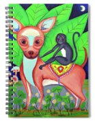 Chihuahuaw/monkie Spiral Notebook