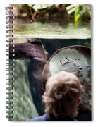 Child And Ray Fish In Paludarium Spiral Notebook