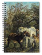 Child And Sheep In The Country Spiral Notebook