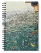 Child Feeding Bread To Fishes Spiral Notebook