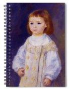Child In A White Dress Lucie Berard 1883 Spiral Notebook