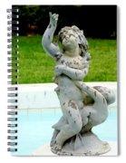 Child On Swan Spiral Notebook