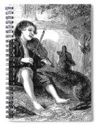 Child Playing Violin Spiral Notebook