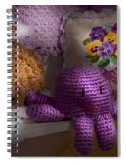 Child - Toy - Octopus In My Closet  Spiral Notebook