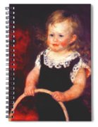 Child With A Hoop Spiral Notebook
