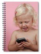 Child With Smartphone  Spiral Notebook
