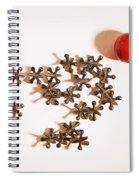 Childhood Game Of Jacks Spiral Notebook