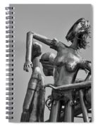 Children At Play Statue B W Spiral Notebook