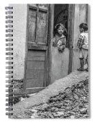 Children At Sankhuwasabha, Nepal Spiral Notebook