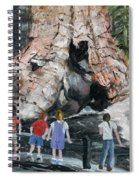 Children At Sequoia National Park Spiral Notebook