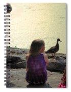 Children At The Pond 1 Spiral Notebook